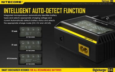 Nitecore Sysmax D4 Intellicharge Battery Charger