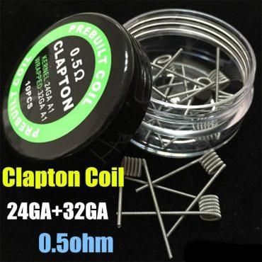 clapton coil 24G+32g 0.5ohm