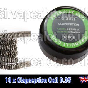 clapception coils 0.3ohm pre made x10