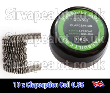 clapception coils 0.3ohm pre made x10
