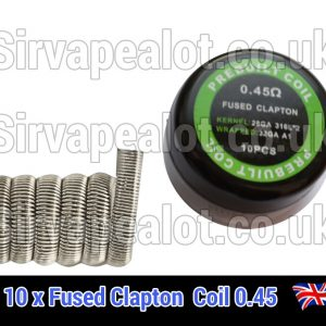 fused-clapton 0.45 ohm x10 premade