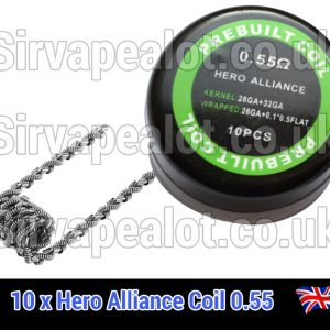 hero alliance 0.55 ohm premade coil x10