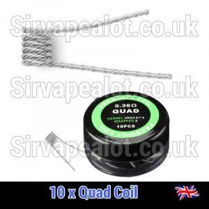 28G x4 0.36 ohm QUAD Coils