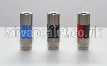 Delux Stainless Steel based & tipped Acrylic smoked 510 drip tip Kanger toptank