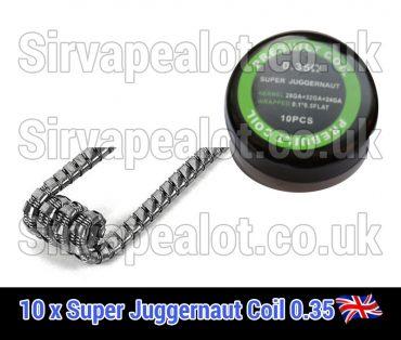 super juggernaut coil 0.35ohm premade x10