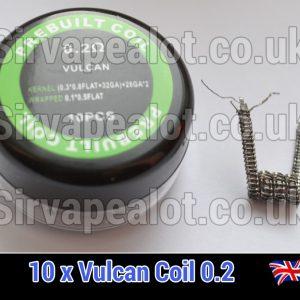 vulcan coil 0.2ohm premade x10
