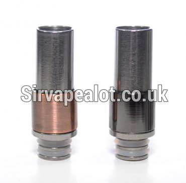 FULL Stainless Steel Rugged double o ring WIDE BORE 510 drip tip Subtank Toptank