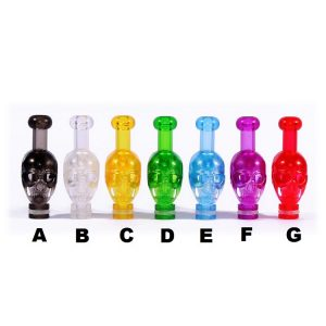 Skull Decorative Acrylic plastic tall 510 drip tip mouth to lung style