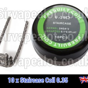 staircase coil 0.35ohm premade x10