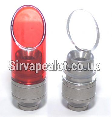 Aluminium & Pyrex Glass Angled SUPER wide bore 510 drip tip