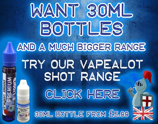 UK 30ML Eliquid Bottles Nicotine Shot Range