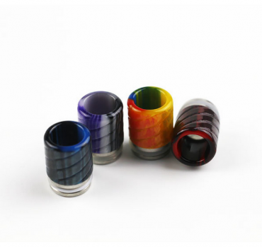 810 drip tip resin and stainless steel