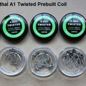 Twisted kanthal prebuilt coils