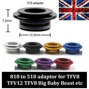 510 to 810 driptip adaptor tfv8 tfv12 etc