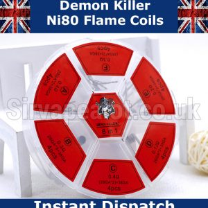 demon killer flame coils ni80 6 in 1 set