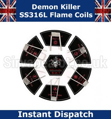 demon killer flame coils ss316L 6 in 1 set