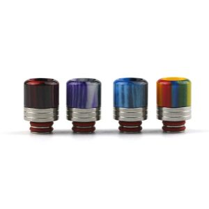 510 WIDE Resin and Stainless Steel Drip TIp With Gauze TFv8 Baby Beast Nautilus