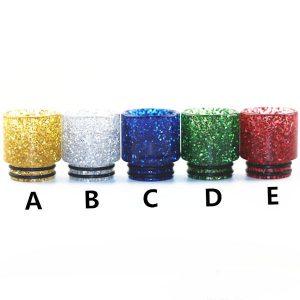 810 WIDE BORE Plastic Glitter Drip Tips