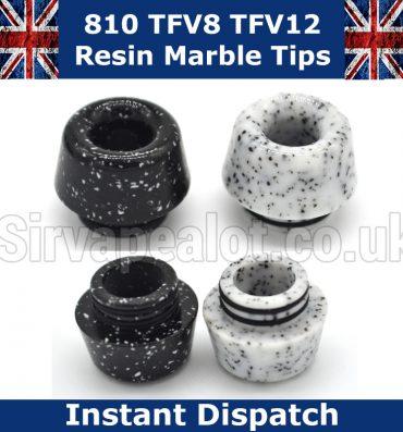 Resin Marble Look 810 Drip Tip TFV8 Alien etc