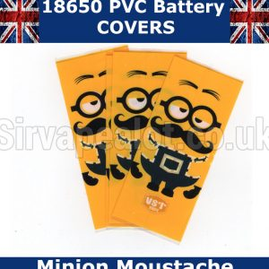 Minion Moustache 18650 PVC Heat Shrink Wrap Battery covers