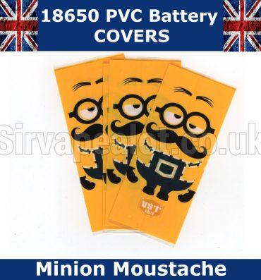Minion Moustache 18650 PVC Heat Shrink Wrap Battery covers