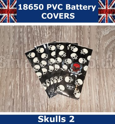 Skulls version 2 18650 PVC Heat Shrink Wrap Battery covers
