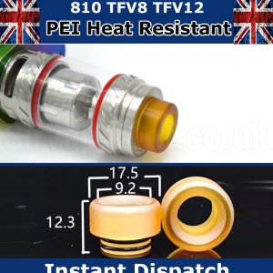 810 PEI Short Drip Tip Fits SMOK TFV12