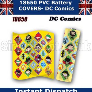 DC-Comics 18650 battery wraps x5