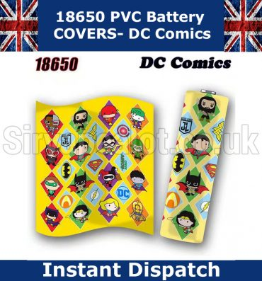 DC-Comics 18650 battery wraps x5