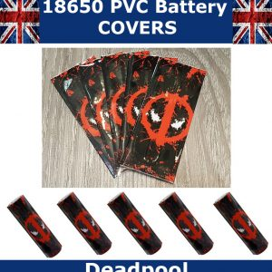 Marvel Deadpool 18650 battery wraps x5