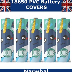 Narwhal 18650 battery wraps x5