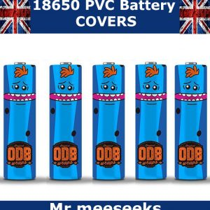 mr-meeseeks rick and morty 18650 battery wraps x5