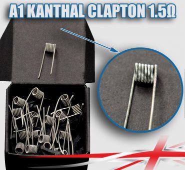 1.5 ohm Kanthal-Clapton-Coils
