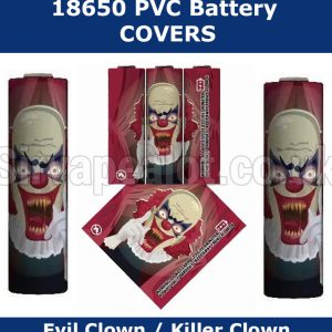 Evil Clown 18650 battery wraps