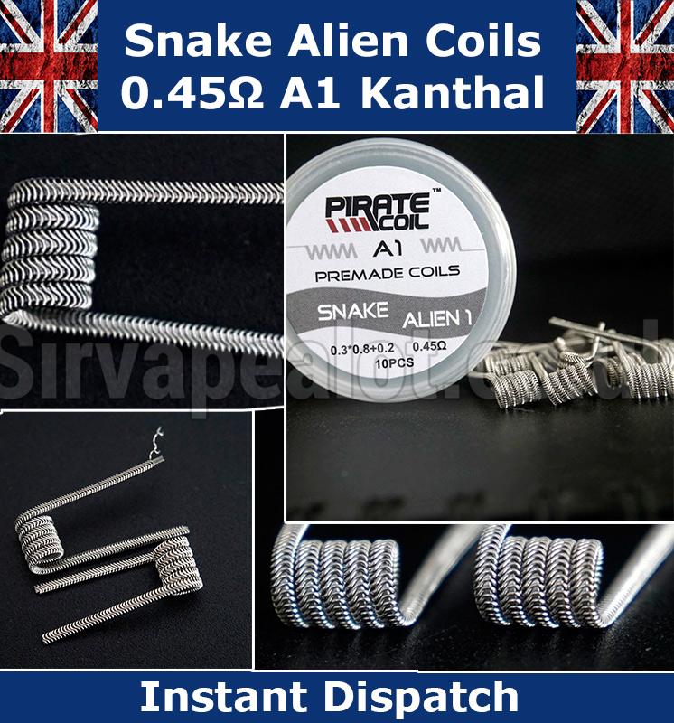 Kanthal A1 Alien Clapton Coils 0 3*0 8 Flat 32g 0 45ohm