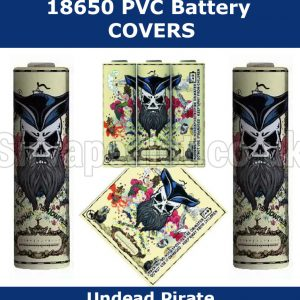 undead Pirate 18650 battery wraps