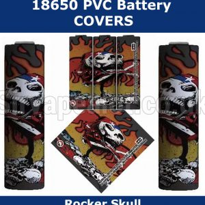 Rocker-skull-18650-battery-wraps