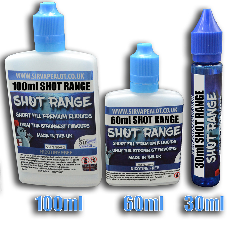 Sir Vapealot Shot Range UK Eliquid short fills