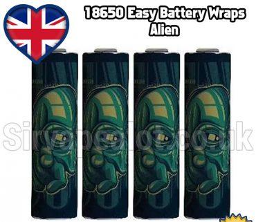Alien 18650 battery shrink wrap skins covers