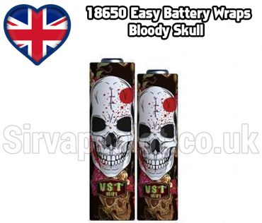 Bloody Skull 18650 battery shrink wrap skins covers