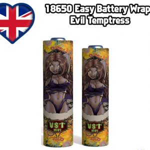 Evil temptress 18650 battery shrink wrap skins covers