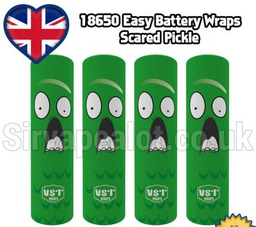 Scared Pickle Evil series 18650 battery shrink wrap skins covers