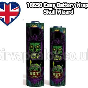 Skull Wizard Evil series 18650 battery shrink wrap skins covers