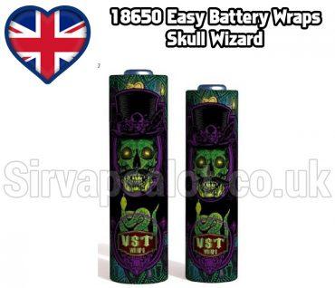 Skull Wizard Evil series 18650 battery shrink wrap skins covers