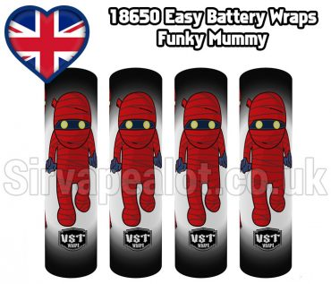 mummy Evil series 18650 battery shrink wrap skins covers