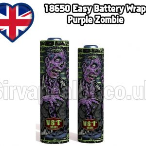 purple zombie Evil series 18650 battery shrink wrap skins covers