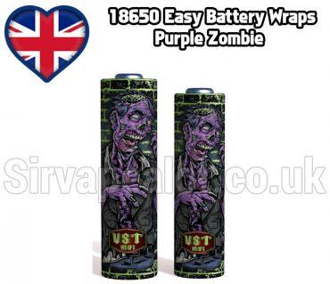 purple zombie Evil series 18650 battery shrink wrap skins covers
