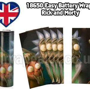 rick and Morty Evil series 18650 battery shrink wrap skins covers