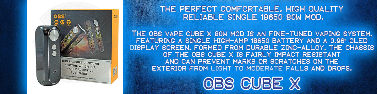 obs-cube-x single 18650 80w mod