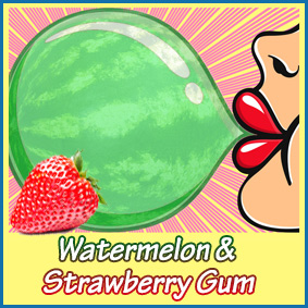 watermelon+strawberry-gum